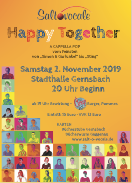 2019 11 Happy Together Flyer